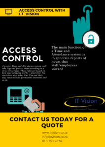 Access Control with IT Vision, Access control, Time and attendance, it vision